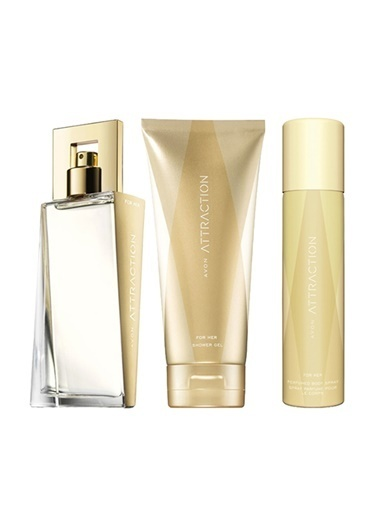 Avon Attraction EDP 50 ml + Vücut Losyonu 150 ml +Deodorant 75 ml Renksiz